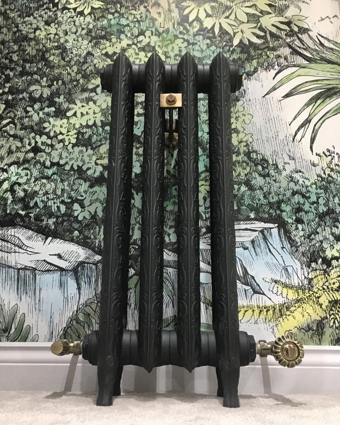 Art Nouveau cast iron radiator, photo by @loveallthingsquirky