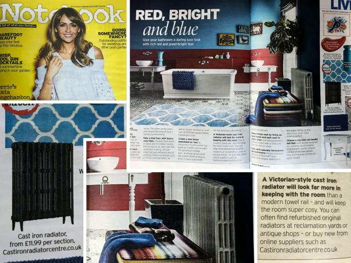 cast iron radiator in Sunday Mirror Magazine 2019