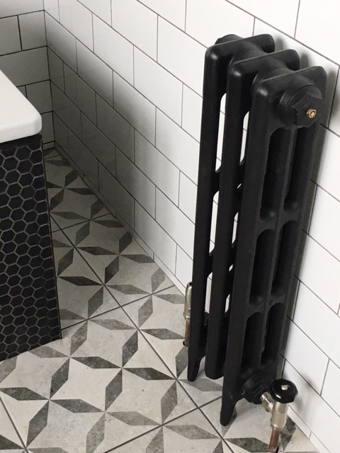 cast iron radiator traditional Victorian 3 column 3 secion