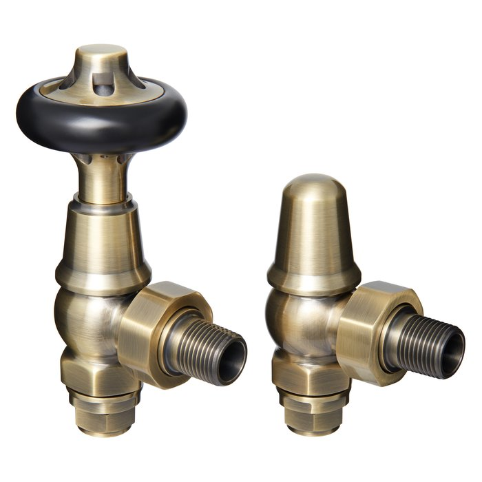Kenilworth Antique Brass Thermostatic Valve Set (CDC-KENILTRV-ANTBR)