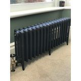 Traditional 4 column 460mm cast iron radiator with Warwick TRV valve